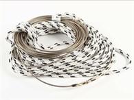 Wirefall 4x15m och 17m vit/blå