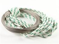 Wirefall 4x15m och 17m vit/grön