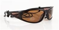 Solglasögon Svarta, UV400, Brunt glas