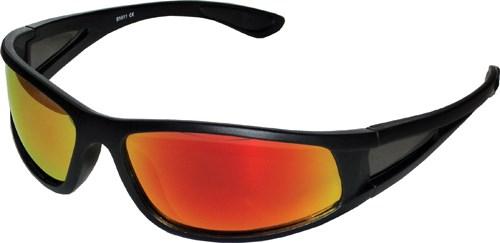 Solglasögon Svarta, UV400, Rött glas