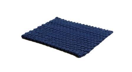 Matta Rope flätad bomullsrep blå 40x50cm