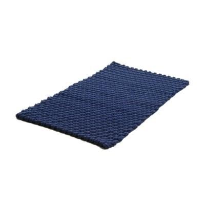 Matta Rope flätad bomullsrep blå 50x80cm