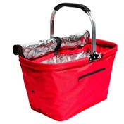Picknick- och kylkorg, vikbar, röd