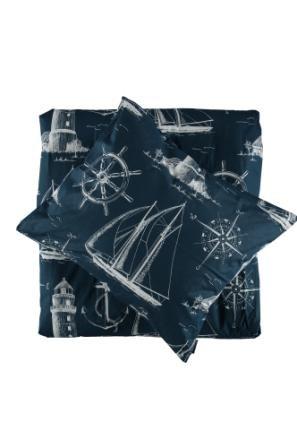 Gripsholm Påslakanset Segelbåt Blå