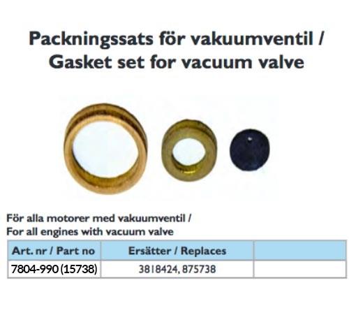 Vakuumventilsats Orbitrade Motsvarar Volvo Penta