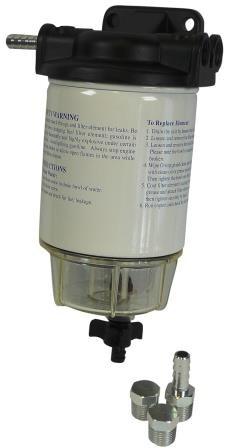 Bränslefilter med hållare 10micron