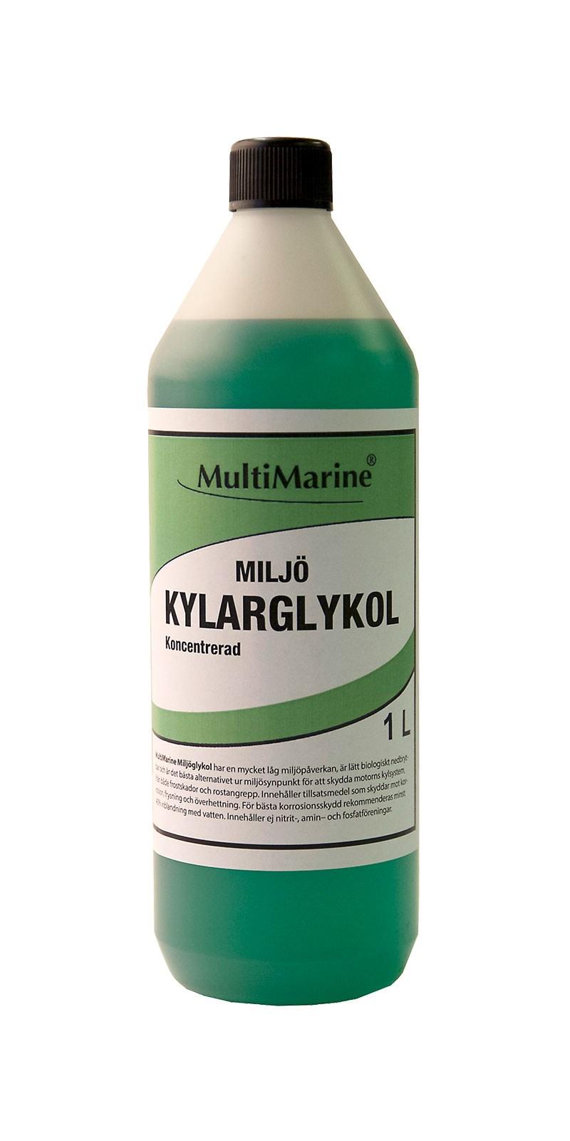Multimarine Miljöglykol grön (Propylenglykol) 1 liter