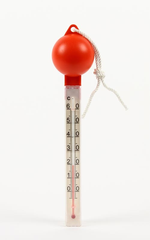 Badtermometer stor med lod