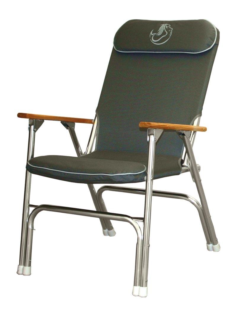 Däcksstol Deluxe Grå