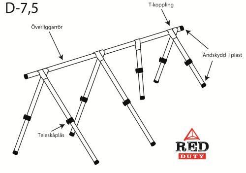 Red Duty Däckställning 7,5m