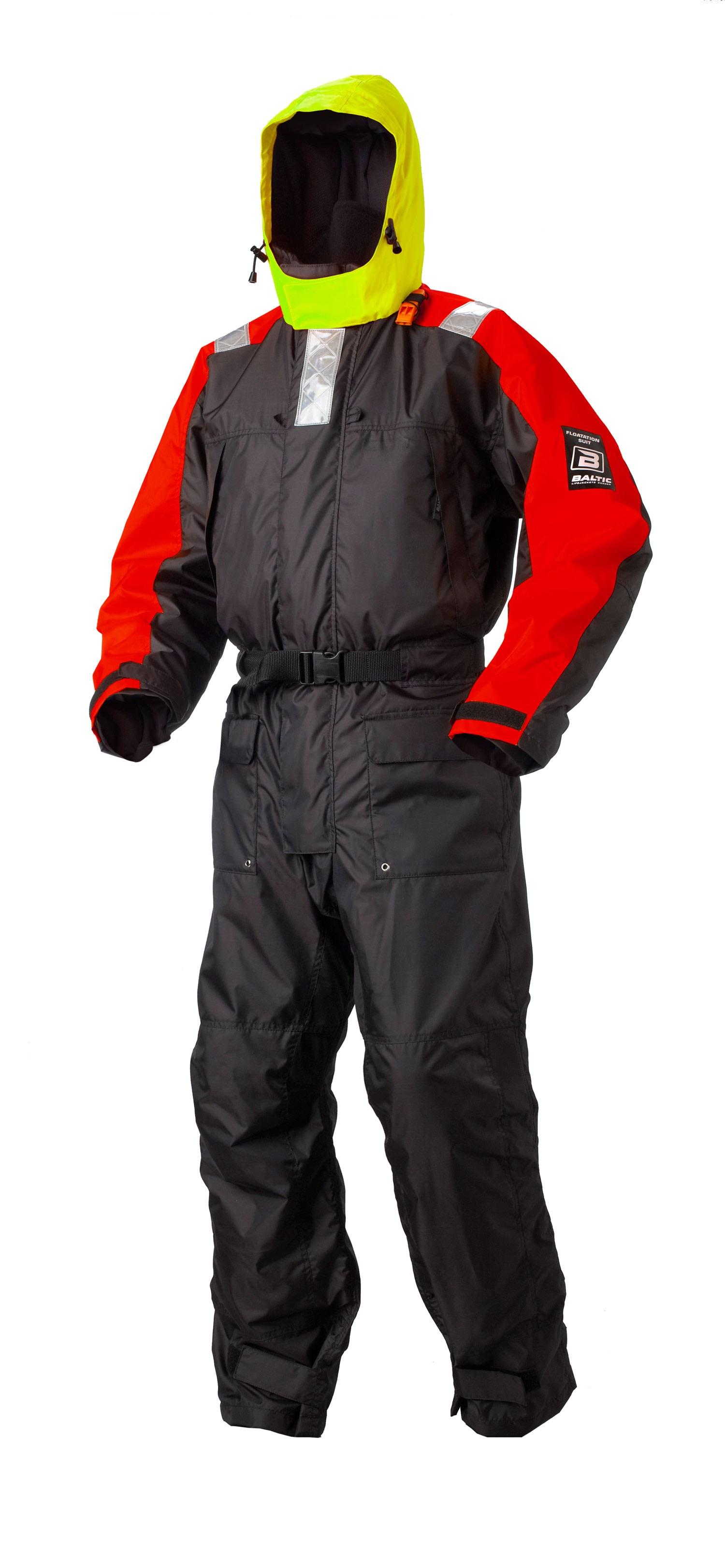Baltic Flytoverall Amarok svart/röd Barn, 30-40kg