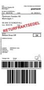 Returfraktsedel Parcel Företagspaket 0-20kg