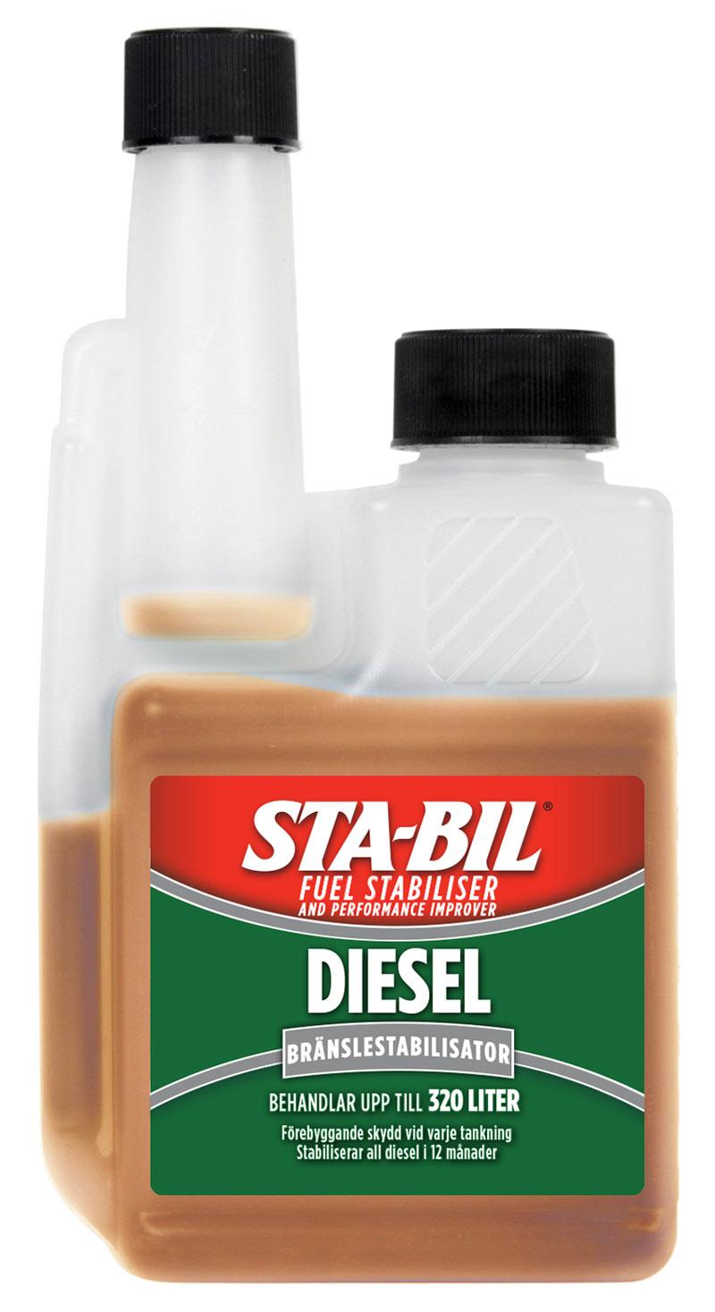 Stabil dieseltillsats liten flaska